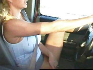 masturbating on the highway real public wife