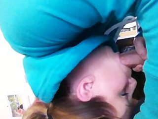 my wife engulfing my shlong and swallowing -