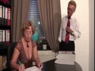 German boss &_ mature secretary