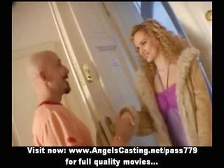 long hair blonde bride toying penis