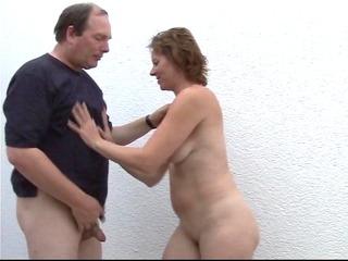 Mature cock suck patio party