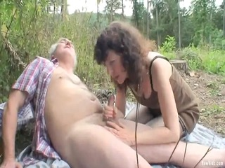 outdoor older couple sex