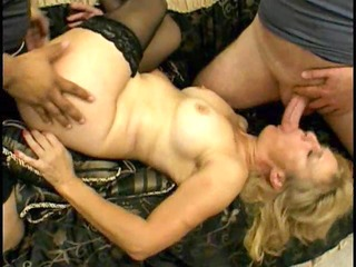 milf gets it is hard in the a-hole and mouth -