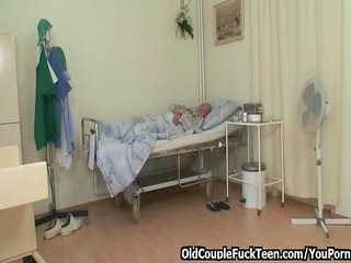 old man copulates hot slutty nurse