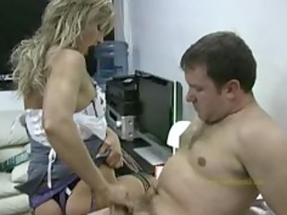 hot applicant gives horny boss a quick cook