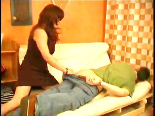 Brunette Russian babe sucks some dick and then